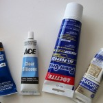 Some types of silicones I have used, &quot;DAP&quot;   and &quot; ACE Brand &quot;was the winner!&quot;