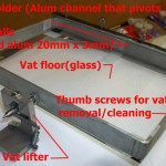 The vat and lifter/tilt  assembly